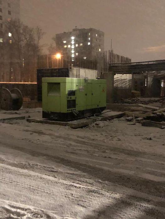 ЖК Терлецкий парк. Установка трансформатора для обеспечения электроэнергией стройплощадки, в том числе для прогрева бетонных конструкций блока. (21.11.2020 г.)