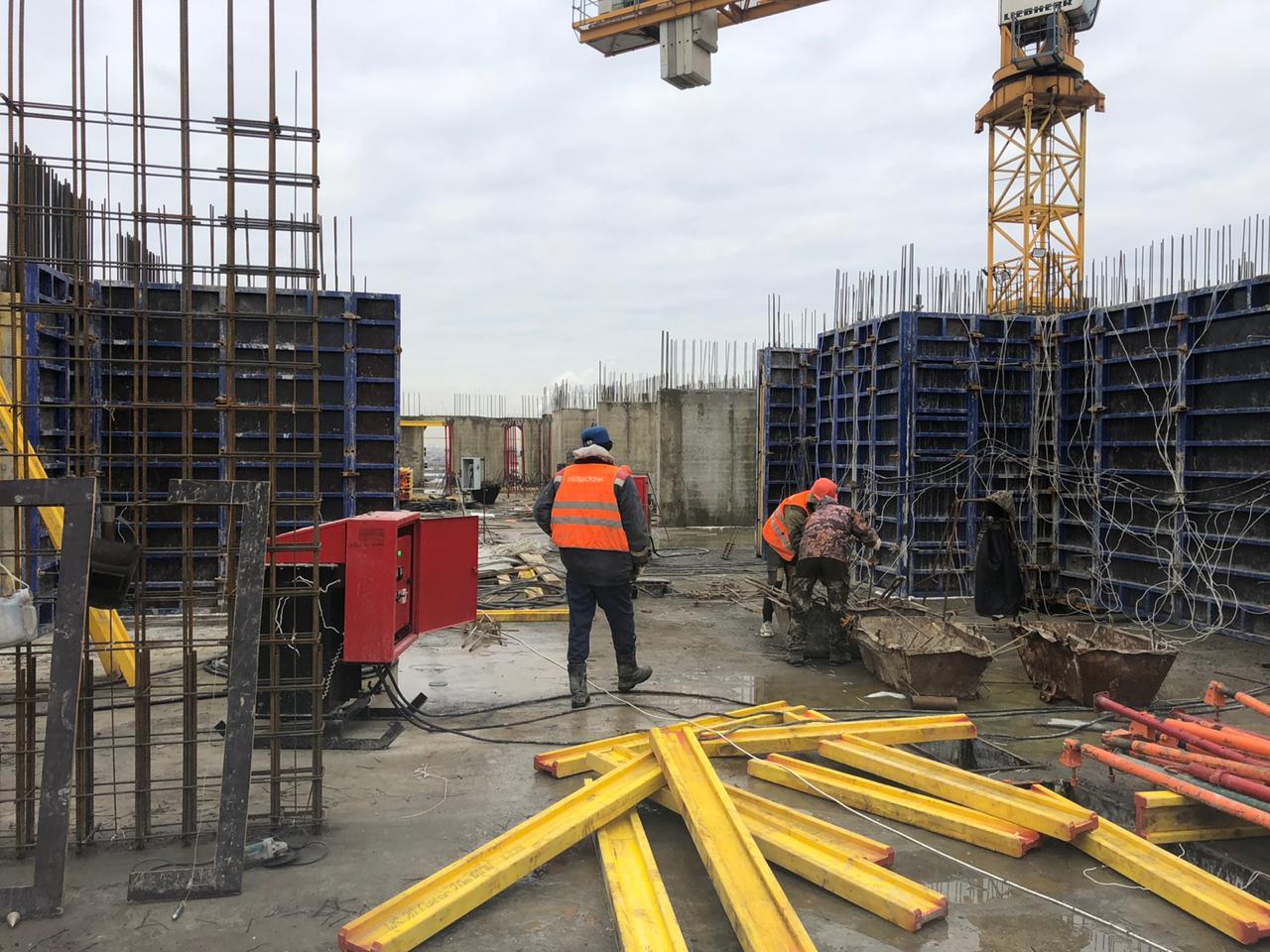 """Подготовка к заливке бетона. ЖК """"Терлецкий парк"""""""
